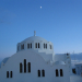 Santorini as the first star appears.