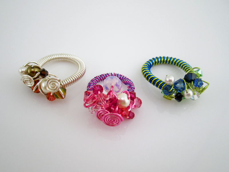 Crystal Cocktail Rings