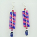 Glitter Spring Stripe Earrings