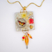Layered Resin Acrylic Collage Jewelry