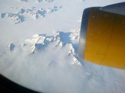 Flying over the Arctic Circle